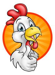 Chicken Rooster Cartoon Character