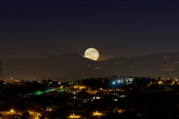 Supermoon at moonrise
