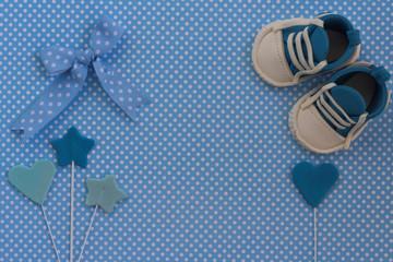 Baby shower invitation. Newborn background
