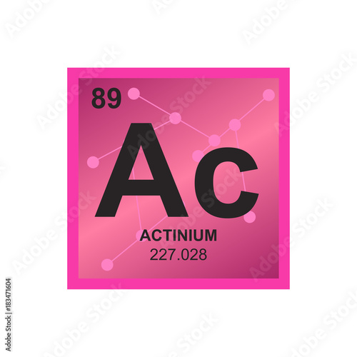 Vector symbol of Actinium from the Periodic Table of the
