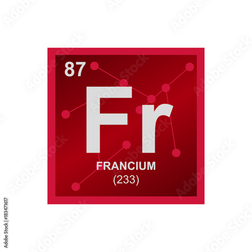 Vector Symbol Of Francium From The Periodic Table Of The Elements On