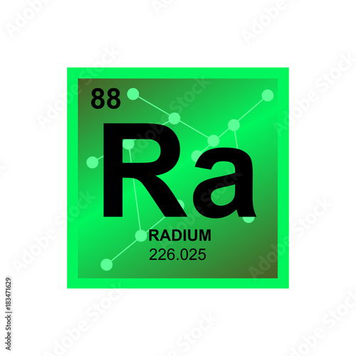 Vector Symbol Of Radium From The Periodic Table Of The Elements On