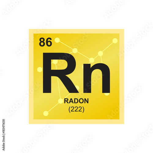 Vector Symbol Of Radon From The Periodic Table Of The Elements On