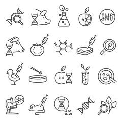Gmo icon set