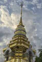 Chedi at Wat Doi Saket Chiang Mai Thailand