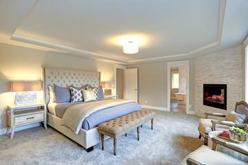 Luxury master bedroom interior .
