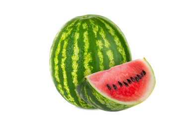watermelon with slice isolated
