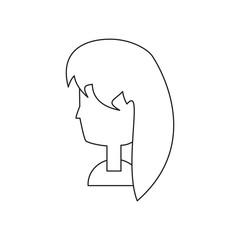 cartoon woman head icon