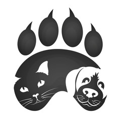 Cat and dog symbol