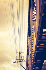 Abstract Railway Bridge and Wire