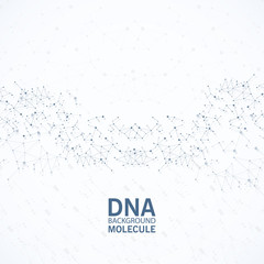 Abstract image of human DNA. Vector illustration