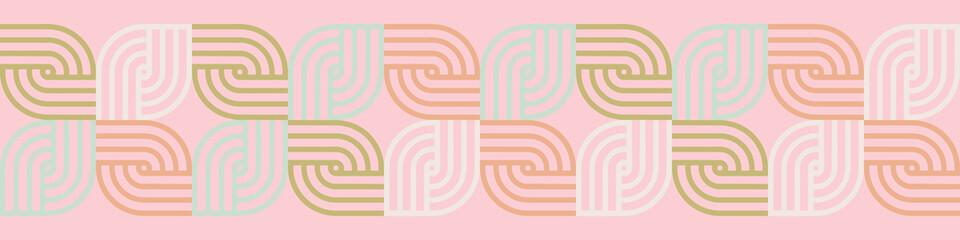Vintage seamless colorful  horizontal border.