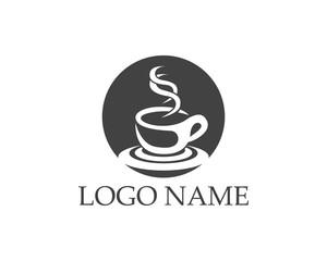 Coffee cup logo design template
