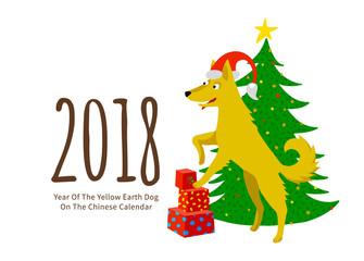 Yellow Earthy Dog symbol of 2018.