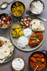 Indian sharing meal
