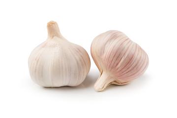 Fresh organic garlic and Garlic clove isolated on background