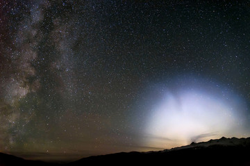 milky way halo star mountain ufo