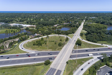 Highway and Ramp Aerial View