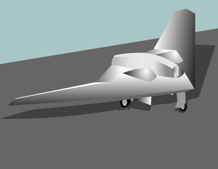 Stealth aircraft simple vector illustration