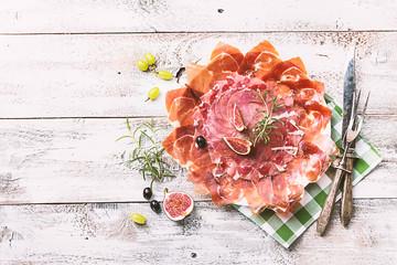 Traditional Spanish ham