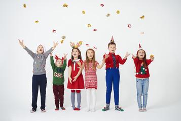 Group of children having a fun