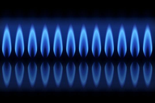 Flammes gaz naturel