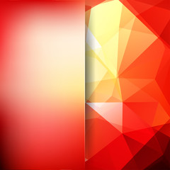 Abstract polygonal vector background. Geometric vector illustration. Creative design template. Abstract vector background for use in design. Yellow, red colors.