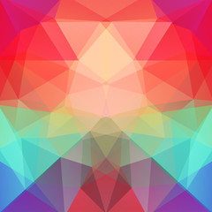 Abstract polygonal vector background. Colorful geometric vector illustration. Creative design template. Red, green, purple colors.