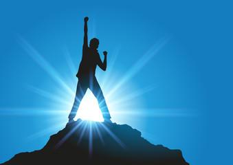 succès - réussite - gagner - compétition - leadership - concept - challenge - gagnant - vainqueur - symbole