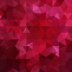 Background of red geometric shapes. Abstract triangle geometrical background. Mosaic pattern. Vector EPS 10. Vector illustration