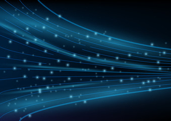 Abstract digital and technology background. High speed internet and communication.