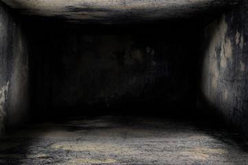 Dark house desig, floor, roof and wall panel