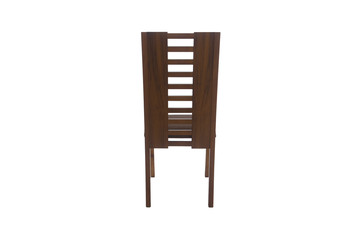 Wood chair. Object isolated of background