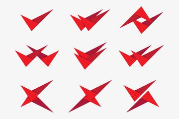 V letter modern logo template