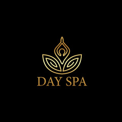 Beautiful Day Spa logo sign vector