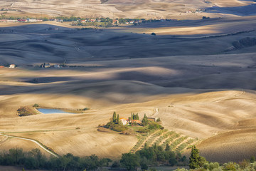 Beautiful autumn rural landscape of Tuscany
