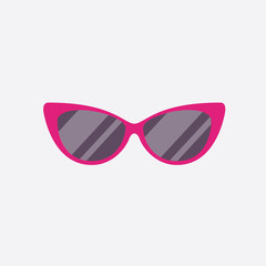 Sunglasses style icon. Sunglasses isolated on white background. Vector stock.