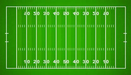 American Football Field. Textured Grass American Football Field - stock vector.
