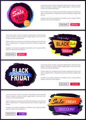 Big Sale Black Friday Website Vector Illustration