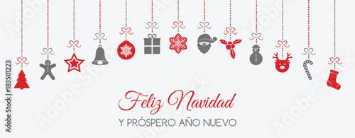 Merry Christmas In Spanish.Feliz Navidad Merry Christmas In Spanish Concept Of