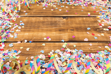 confetti and streamer background