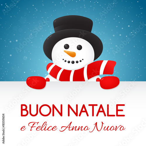 buon natale merry christmas in italian concept of christmas card with decoration vector - Italian For Merry Christmas