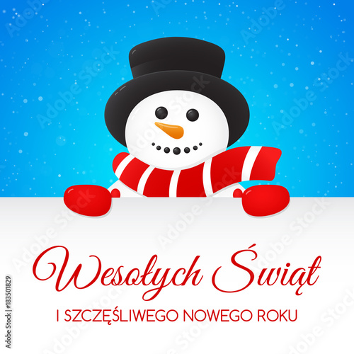 Merry Christmas In Polish.Wesolych Swiat Merry Christmas In Polish Concept Of