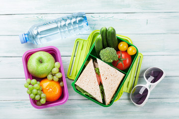 Vacation lunch box and items