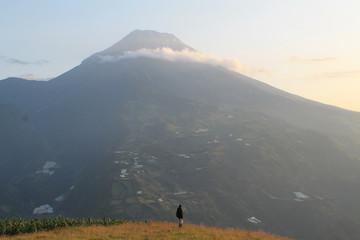 View of the Tungurahua's Volcano from Baños, Ecuador
