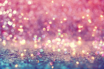 Beautiful abstract shiny light and glitter background Wall mural