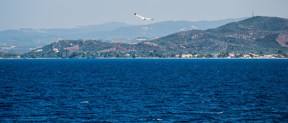 Volos, Greece, July 25, 2014: ferry port