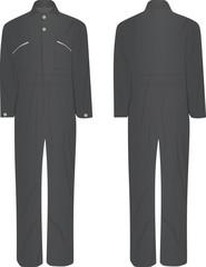 Working jumpsuit. vector illustration