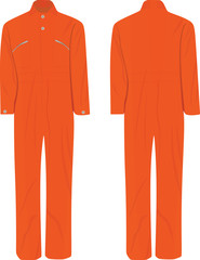 Working jumpsuit. vector illustration