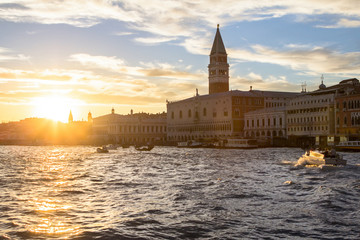 San Marco and Palace Ducate at sunset in Venice